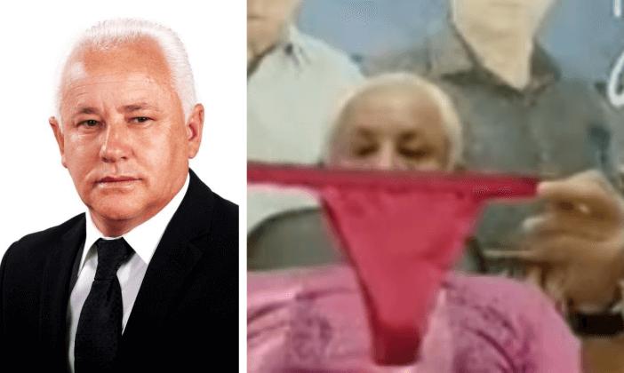 Vereador de Bragança Paulista segura calcinha e cheira durante ...